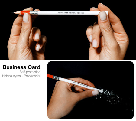 Helena Ayres Proofreader Business card