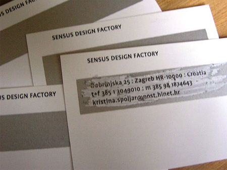 Sensus Design Factory Business Card