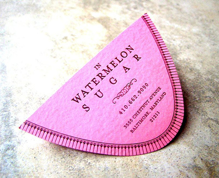 In Watermelon Sugar Business Card
