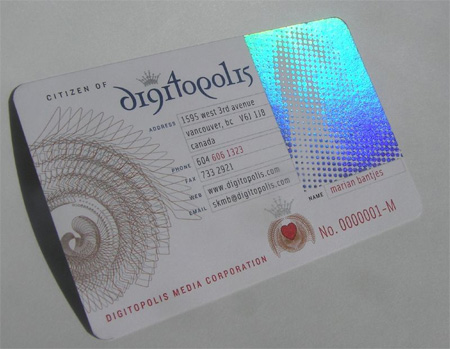 Digitopolis Business Card