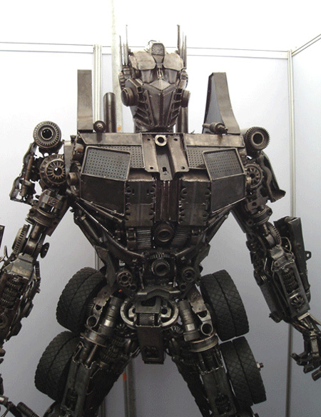 Optimus Prime Metal Sculpture