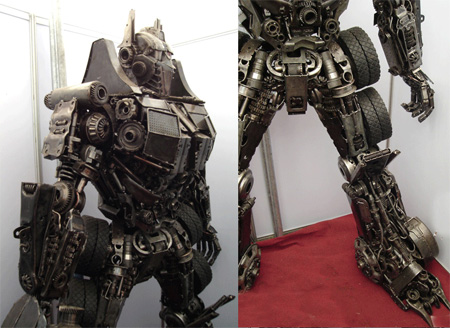 Optimus Prime Metal Sculpture 2
