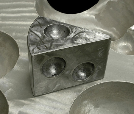 Swiss Cheese Metal Sculptures