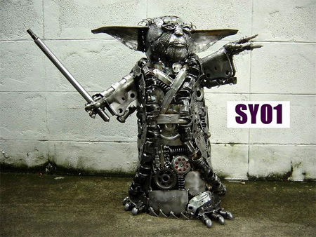 Yoda Metal Sculpture