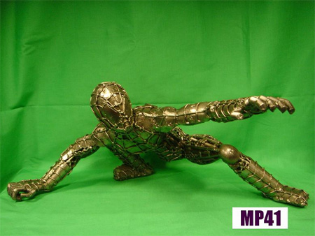 Spiderman Metal Sculpture