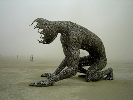 Metal Sculpture at Burning Man Festival