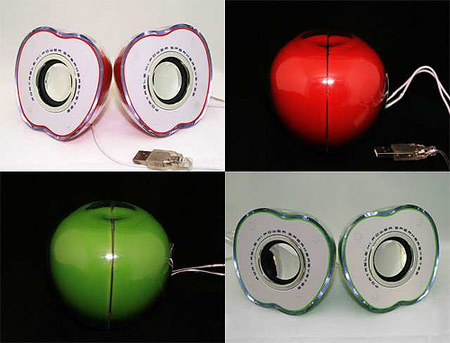 Apple Shaped Speakers