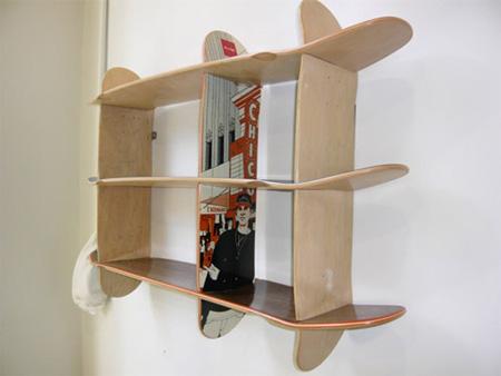 Skateboard Bookshelves