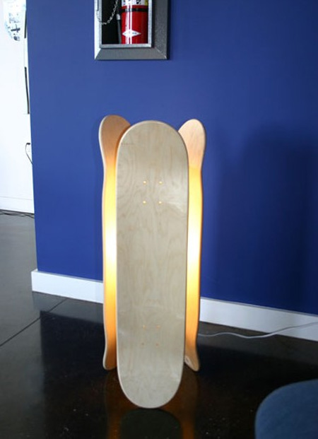 Skateboard Lamp skateboard inspired furniture designs