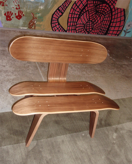 Skateboard Stax Chair & Skateboard Inspired Furniture Designs