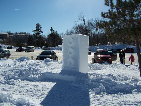 Giant Lego Snow Sculpture 2