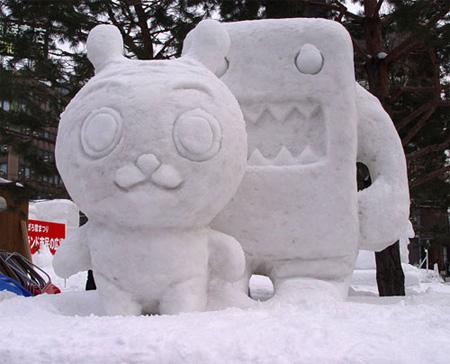 Domokun Snow Sculpture