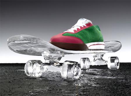 Skateboard Ice Sculpture