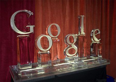 Google Ice Sculpture