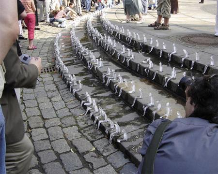 Melting Men Ice Sculptures 2