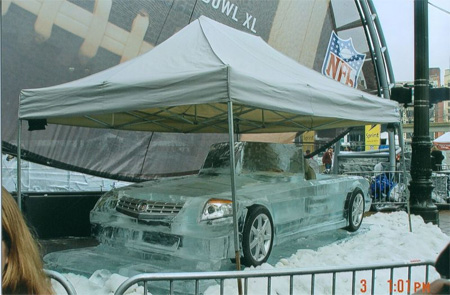 Cadillac CTS Ice Sculpture