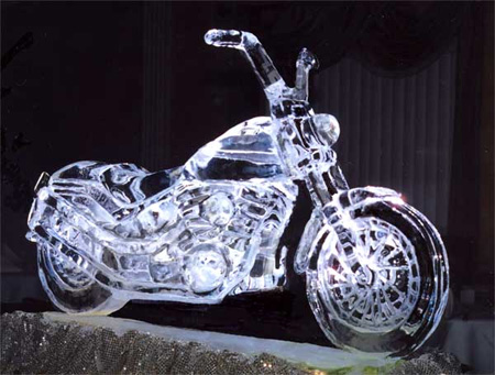 Motorcycle Ice Sculpture