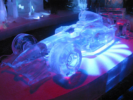 F1 Car Ice Sculpture