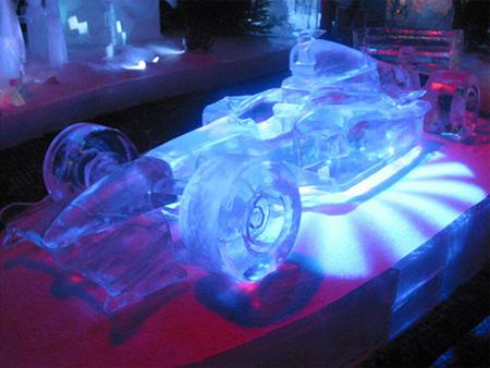 F1 Car Ice Sculpture