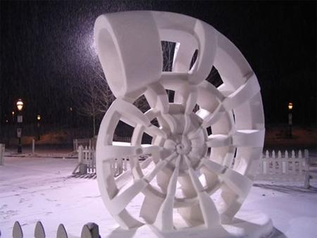 Nautilus Snow Sculpture