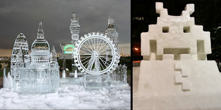 20 Beautiful Snow and Ice Sculptures