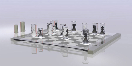 Transparent Chess Set