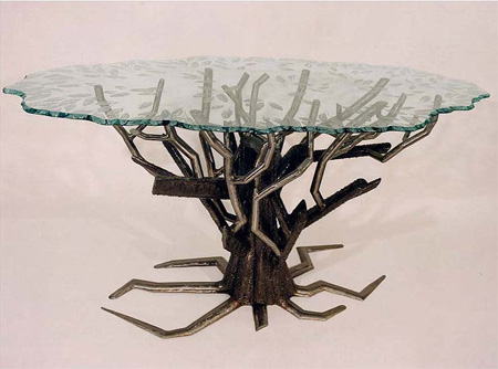 Metal Tree Table