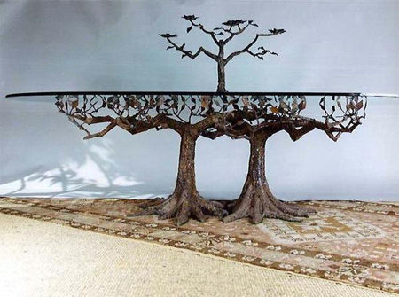 Glass Tree Tables