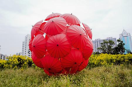 Umbrella Art Installation in Shanghai