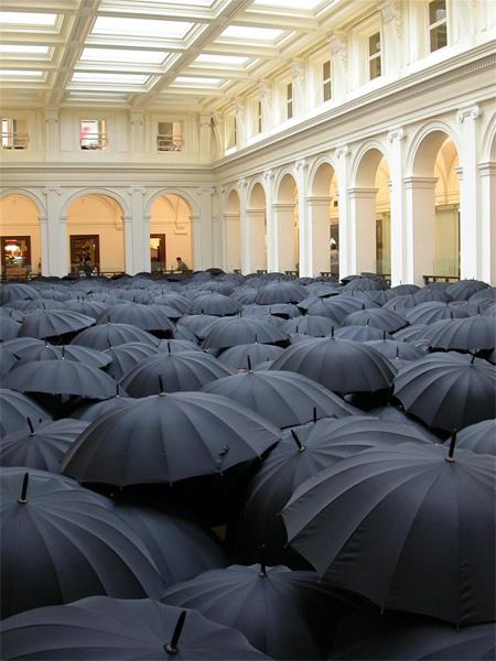 Umbrella Art Installation in Melbourne