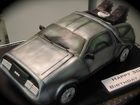 DeLorean Cake