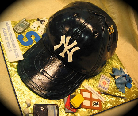 New York Yankees Cap Cake
