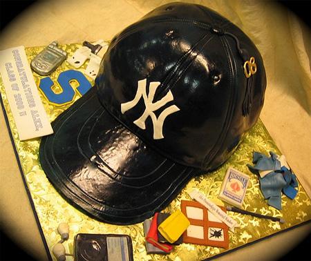 New York Yankees Cap Cake