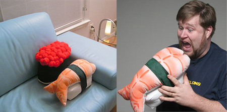 Unique Pillows and Creative Pillow Designs Seen On www.coolpicturegallery.net Sushi Pillows