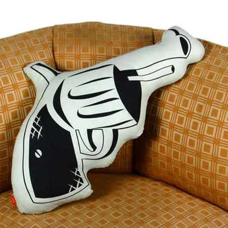 Unique Pillows and Creative Pillow Designs Seen On www.coolpicturegallery.net Gun Pillow