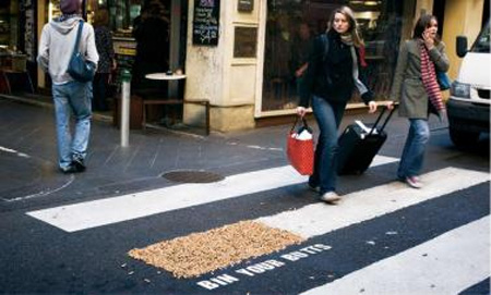 Bin Your Butts Crosswalk