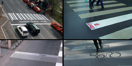 Clever and Creative Crosswalk Advertising