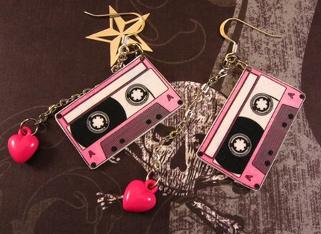 Cassette Tape Earrings