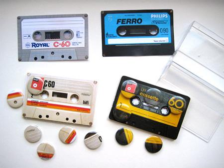 Cassette Tape Badge Sets