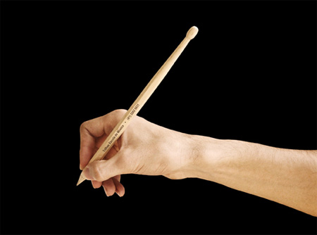Drumstick Pencils Promote Drum Lessons 5