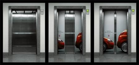 Fiat Punto Elevator Advertisement