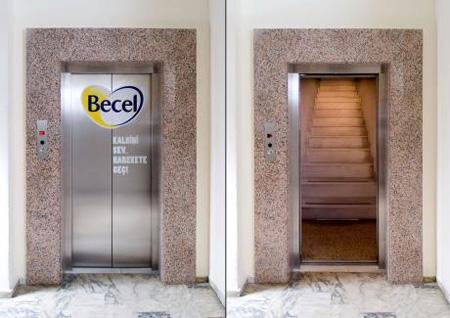 Becel Elevator Advertisement