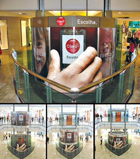 Claro Elevator Advertisement