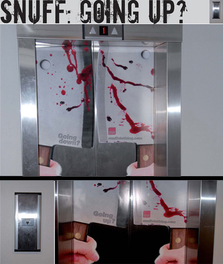 Snuff Clothing Elevator Advertisement