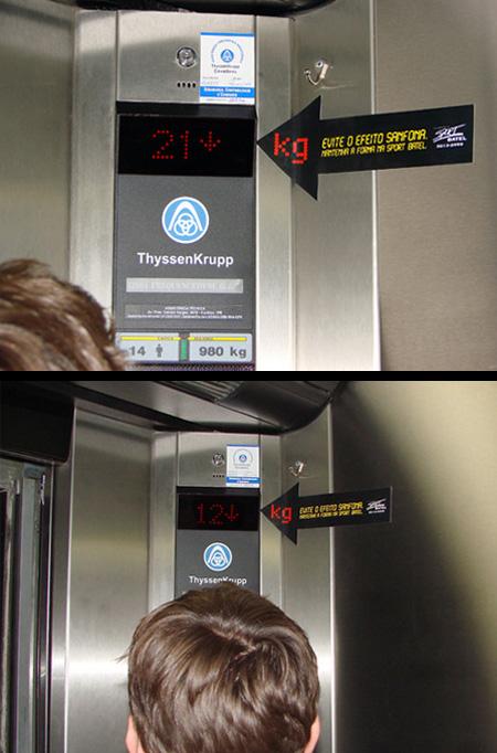 Sport Batel Gym Elevator Advertisement