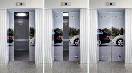 Volkswagen Elevator Advertisement