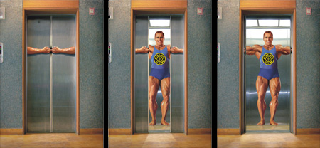 Golds Gym Elevator Advertisement