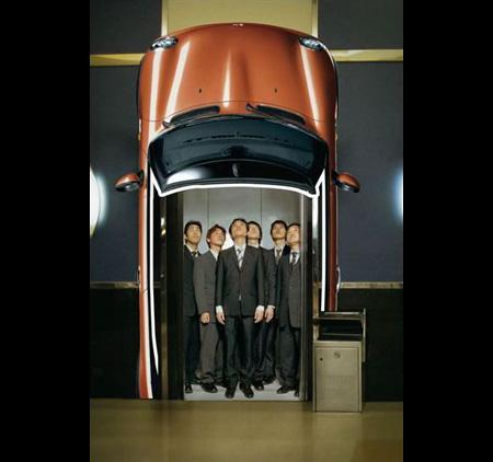 Mini Cabrio Elevator Advertisement