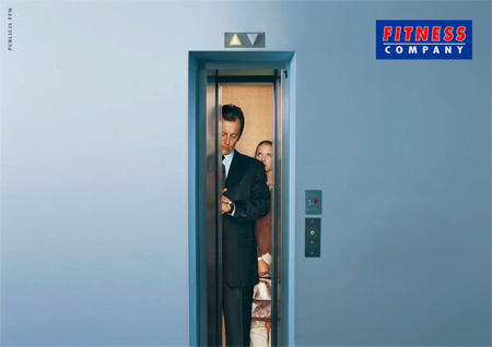 Fitness Company Elevator Advertisement