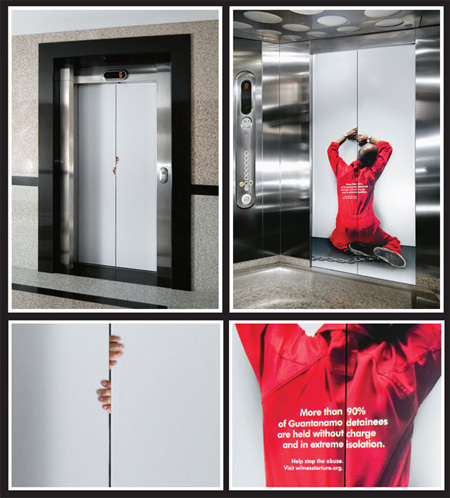 Witness Against Torture Elevator Advertisement